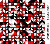 geometric seamless pattern... | Shutterstock .eps vector #586514054