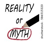 reality or myth   myth circled...   Shutterstock .eps vector #586515320