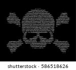 skull and crossed bones ascii... | Shutterstock .eps vector #586518626