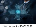 artificial intelligence  ai  ... | Shutterstock . vector #586520258