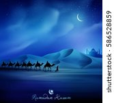 islamic vector illustration... | Shutterstock .eps vector #586528859