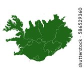 map of iceland | Shutterstock .eps vector #586529360