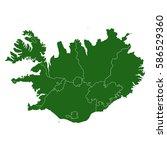 map of iceland | Shutterstock .eps vector #586529360