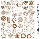bakery vintage design elements  ... | Shutterstock .eps vector #586530299