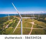 aerial drone shot of huge... | Shutterstock . vector #586534526