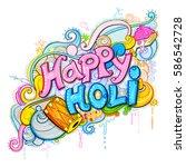 illustration of colorful splash ... | Shutterstock .eps vector #586542728