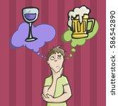 vector illustration of a man... | Shutterstock .eps vector #586542890
