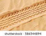 Tracks On The Sand  Sahara...
