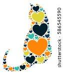cat shape vector design... | Shutterstock .eps vector #586545590