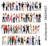hi res mega group of 60... | Shutterstock . vector #58654657