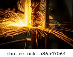 motion welding robots in a car... | Shutterstock . vector #586549064