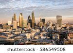 Small photo of The new skyline of London at sunset time