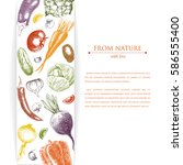 template design with hand drawn ... | Shutterstock .eps vector #586555400