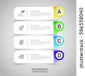 modern infographics business...   Shutterstock .eps vector #586558040