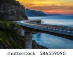 sunset over the sea cliff... | Shutterstock . vector #586559090