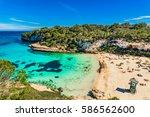 majorca cala llombards santanyi ... | Shutterstock . vector #586562600