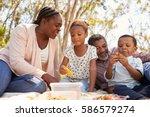 grandparents and grandchildren...   Shutterstock . vector #586579274