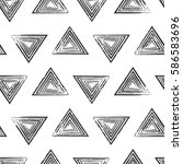 seamless vector pattern with... | Shutterstock .eps vector #586583696