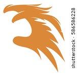 the soaring eagle emblem vector ... | Shutterstock .eps vector #586586228