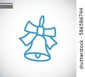 school bell icon flat. | Shutterstock .eps vector #586586744