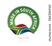 made in south africa flag green ... | Shutterstock .eps vector #586586960