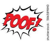 isolated comic bubble speech on ... | Shutterstock .eps vector #586589840