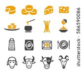 cheese icon | Shutterstock .eps vector #586590086