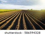 agriculture landscape | Shutterstock . vector #586594328