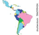 latin america | Shutterstock .eps vector #586599434
