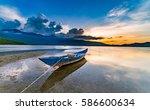 "beautiful sunset in ""lap an""... | Shutterstock . vector #586600634"