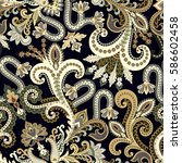 seamless ornate pattern with ... | Shutterstock .eps vector #586602458