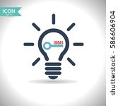 idea icon. vector  illustration ... | Shutterstock .eps vector #586606904