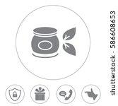 vector cream icon | Shutterstock .eps vector #586608653