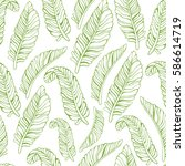 tropical trendy seamless... | Shutterstock .eps vector #586614719
