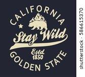 california vintage typography ... | Shutterstock .eps vector #586615370
