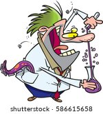 cartoon mad scientist | Shutterstock .eps vector #586615658