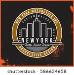 motorcycle t shirt graphic | Shutterstock .eps vector #586624658