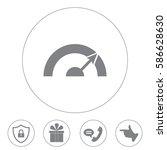 pictograph of speedometer   Shutterstock .eps vector #586628630