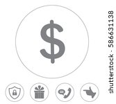 flat dollar icon. | Shutterstock .eps vector #586631138