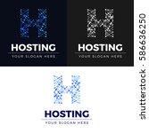 hosting logo | Shutterstock .eps vector #586636250