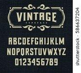 wild west typeface   retro... | Shutterstock .eps vector #586637204