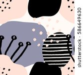 collage style seamless repeat...   Shutterstock .eps vector #586649630