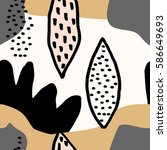 collage style seamless repeat...   Shutterstock .eps vector #586649693