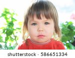 child portrait with neutral... | Shutterstock . vector #586651334