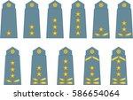 insignia millitary | Shutterstock .eps vector #586654064