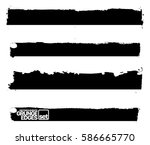 set of grunge and ink stroke... | Shutterstock .eps vector #586665770