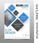 business brochure flyer design... | Shutterstock .eps vector #586671344