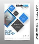 business brochure flyer design... | Shutterstock .eps vector #586671344