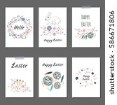 happy easter | Shutterstock .eps vector #586671806