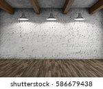 interior style loft with lamps... | Shutterstock . vector #586679438
